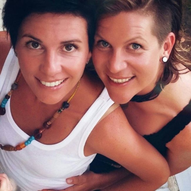 A Facebook photo of Nicole Kopaunik and Daniela Paier, who live in south Austria
