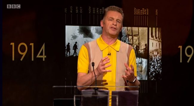 TV presenter Chris Packham gave a passionate speech about Alan Turing on the BBC's Icons series