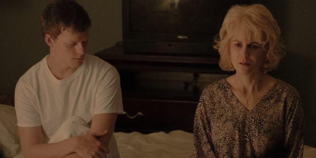 Picture of Lucas Hedges and Nicole Kidman in Boy Erased.