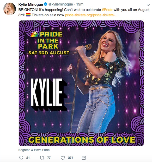 Kylie Minogue on Twitter