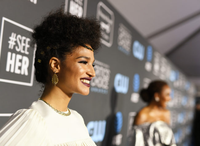 Indya Moore attends the 24th annual Critics' Choice Awards at Barker Hangar on January 13, 2019 in Santa Monica, California.