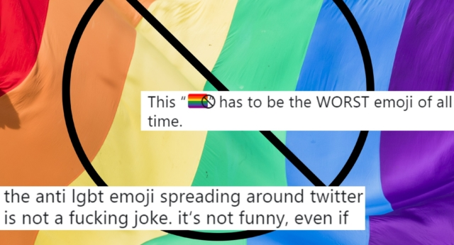 bandera gay tachada emoji