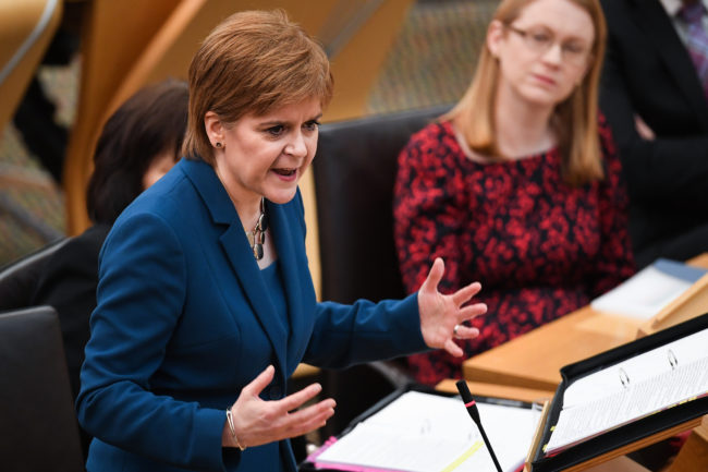 Scotland's First Minister Nicola Sturgeon defended transgender rights.
