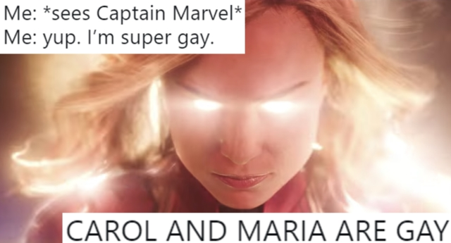 Capitana Marvel gay