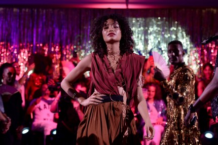 Indya Moore performs during the FX 'Pose' Ball in Harlem on June 2, 2018 in New York City.