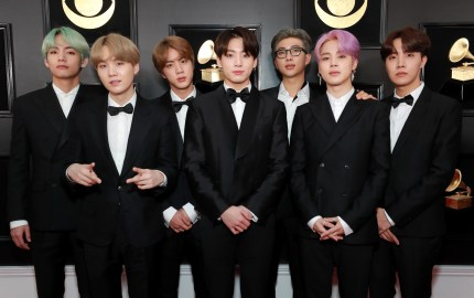 BTS, including rapper Kim Namjoon, known as RM, attend the 61st Annual GRAMMY Awards at Staples Center on February 10, 2019 in Los Angeles, California.