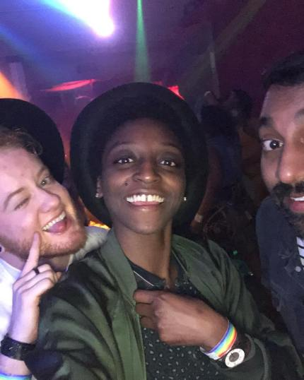 Jess Guilbeaux, Skyler Jay and Neal Reddy from Queer Eye.