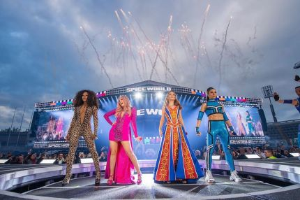 The Spice Girls on stage during the Spice World 2019 tour.
