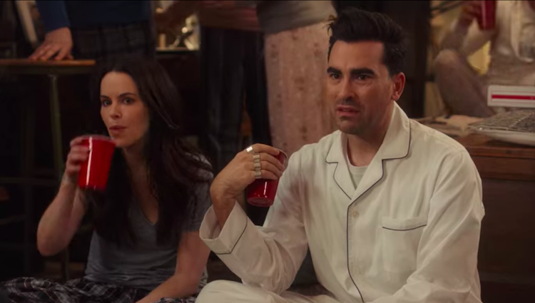 Schitt's Creek censored gay kiss.