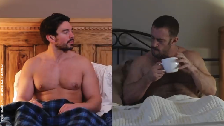 Steve Grand in I'll Be Home for Christmas video cover