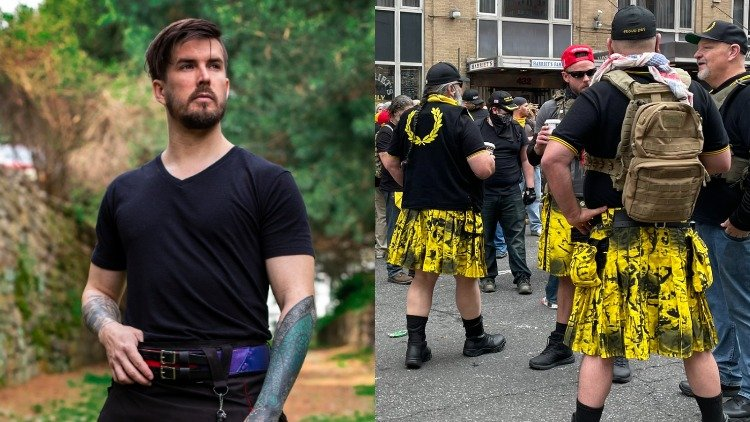 Founder of Verillas and Proud Boys in yellow kilts.
