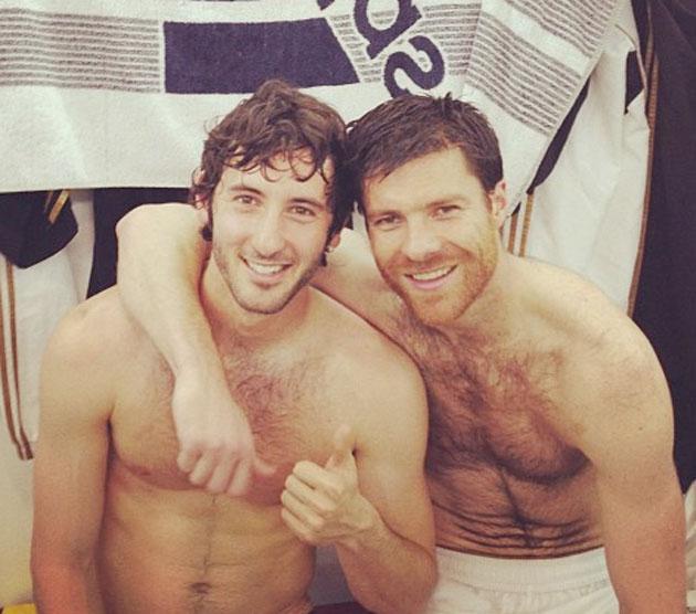 Fotos de los jugadores del Real Madrid desnudos en el vestuario